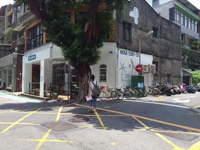 台北市内のサーフショップ
